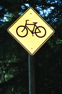 Bicycle-traffic-warning-sign