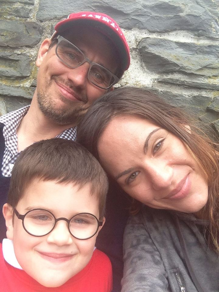 Matt and Michele Miller and their 7-year-old son, Holden.