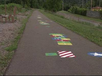 Chemung County and the City of Elmira want to build on the success of their Lackawanna Rail Trail (above and below) by building a path that links Elmira and Big Flats.