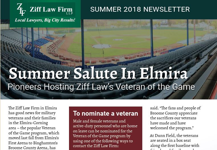 Legal News You Can Use: New Ziff Law Summer 2018 Newsletter